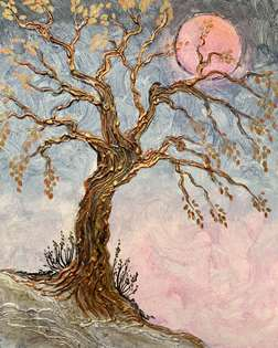 Tree of Mystery Glue Gun Art