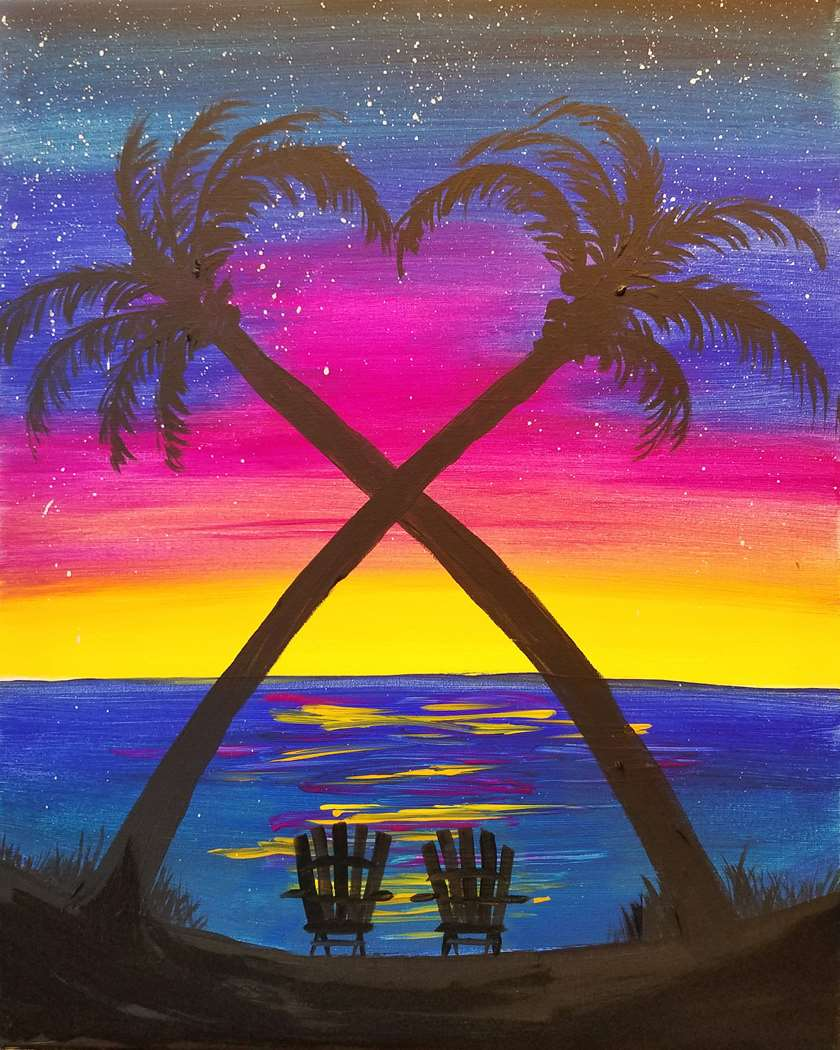 MAKE IT A DATE NIGHT & PAINT ON 2 CANVASES
