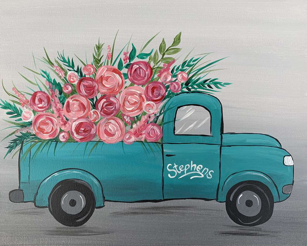 Truck bed of Roses