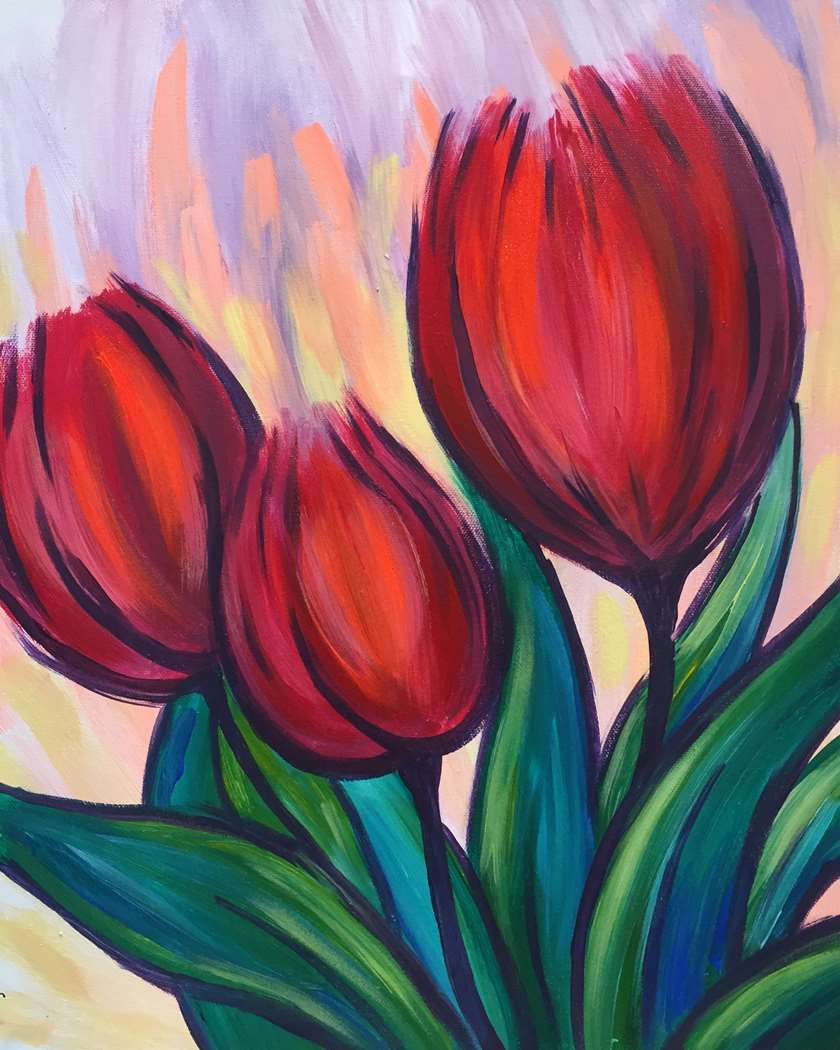 TULIP TRIO - CHOOSE YOUR SIZE AND SURFACE