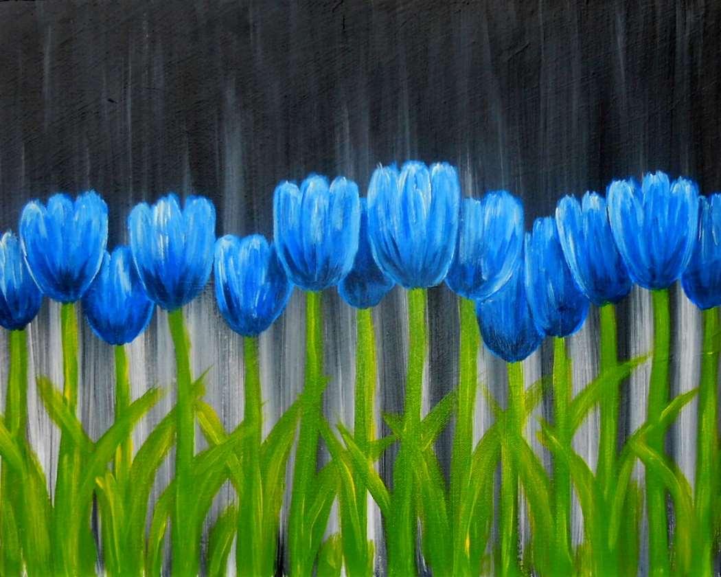 Tulips in Blue