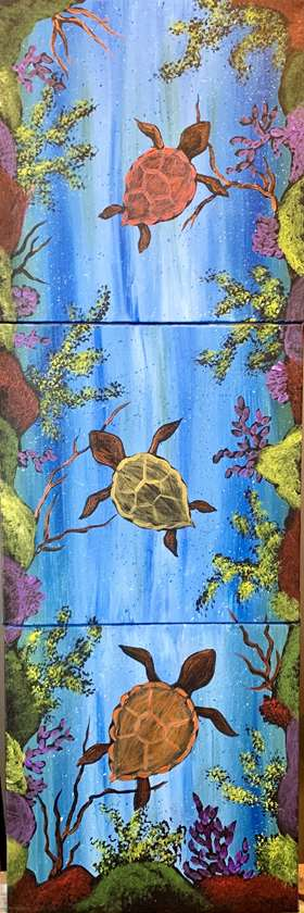 Turtle Love 10x10 Collaborative