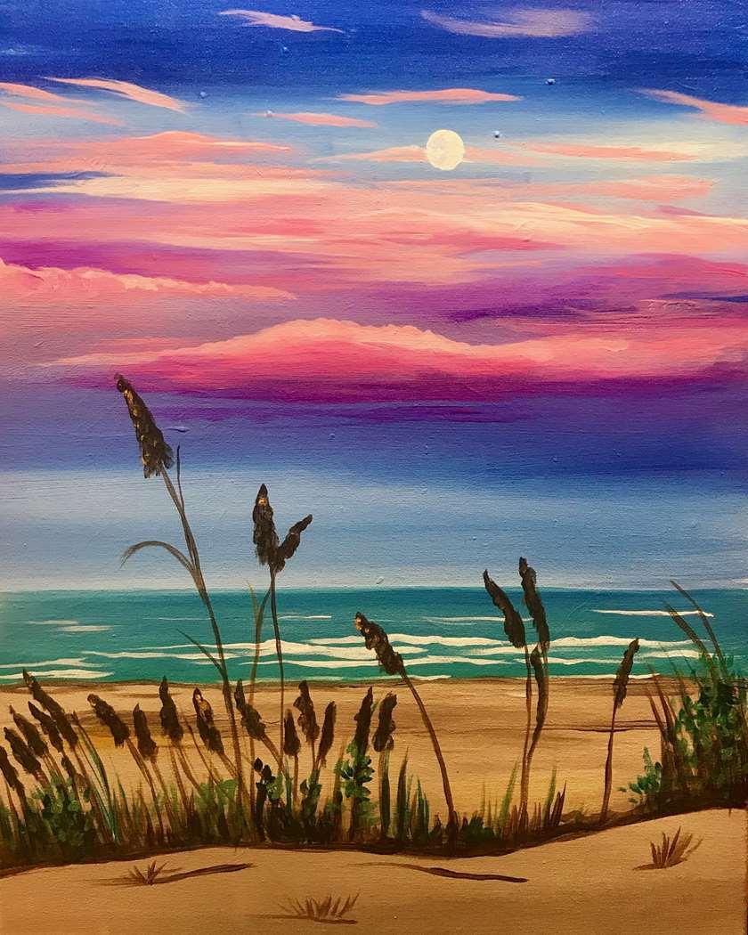 Twilight Walk on the Beach
