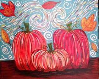 Van Gogh Pumpkins