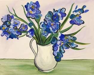 Van Gogh's Blue Irises