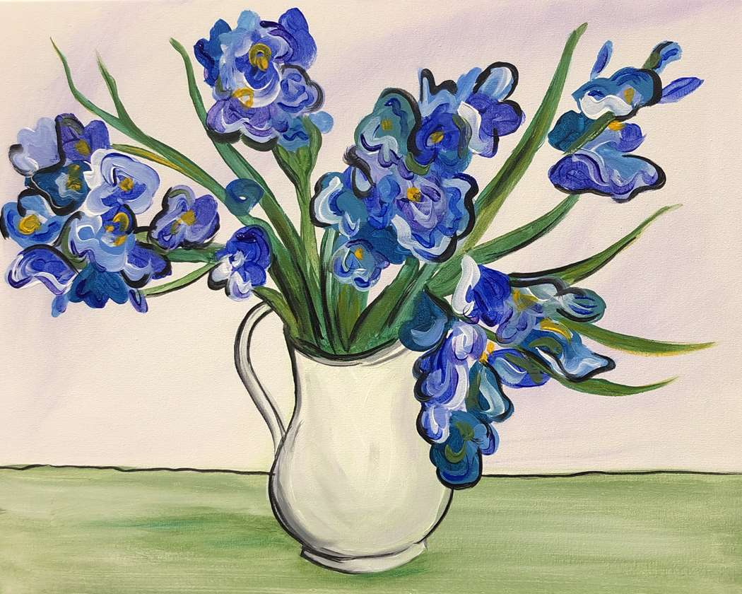 Van Gogh's Blue Irises - In Studio Event - Limited Seating Available