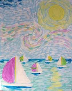 Van Gogh's Day on the Lake
