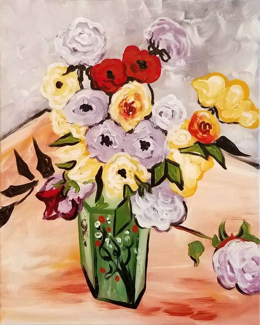 Van Gogh's Roses and Anemones - In Studio Event - Limited Seating Available