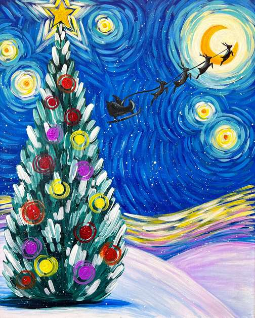 Van Gogh's Starry Christmas Eve