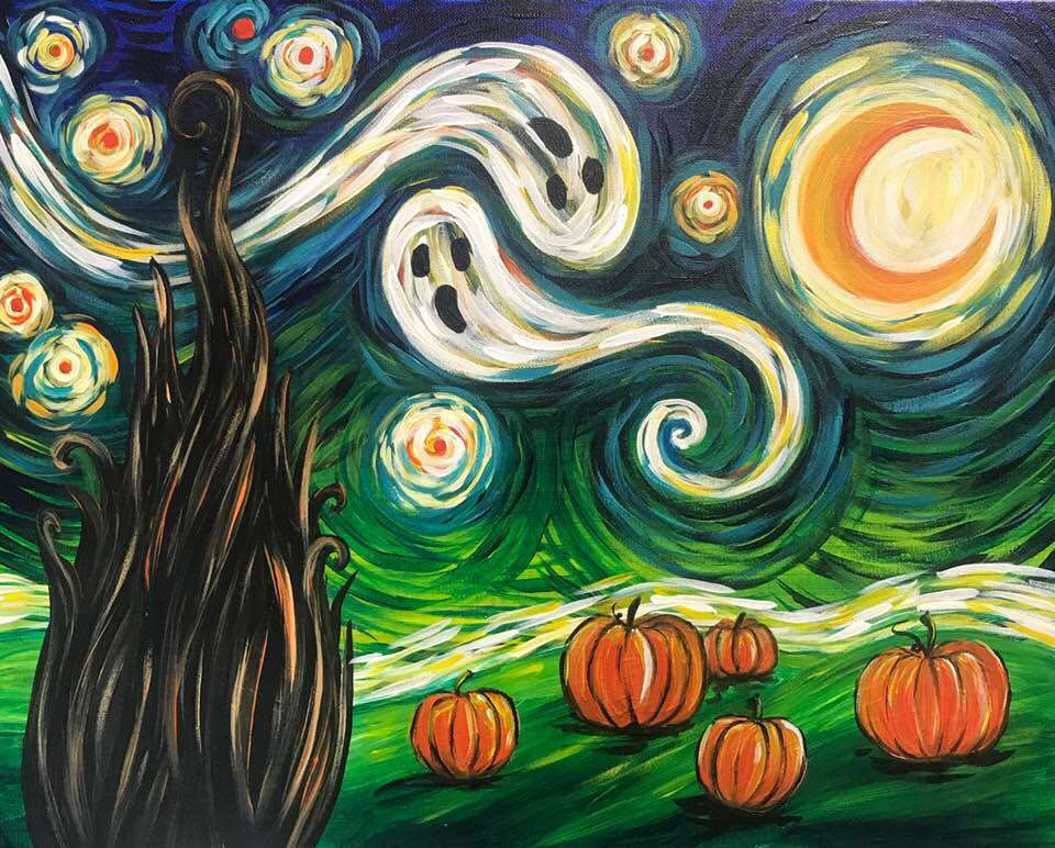 Starry Night Halloween - In Studio Event - Limited Seating Available