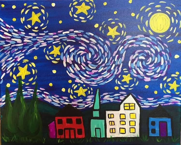 Van Gogh's Starry Night Kids Edition - All Ages - In Studio Event - Limited Seating Available