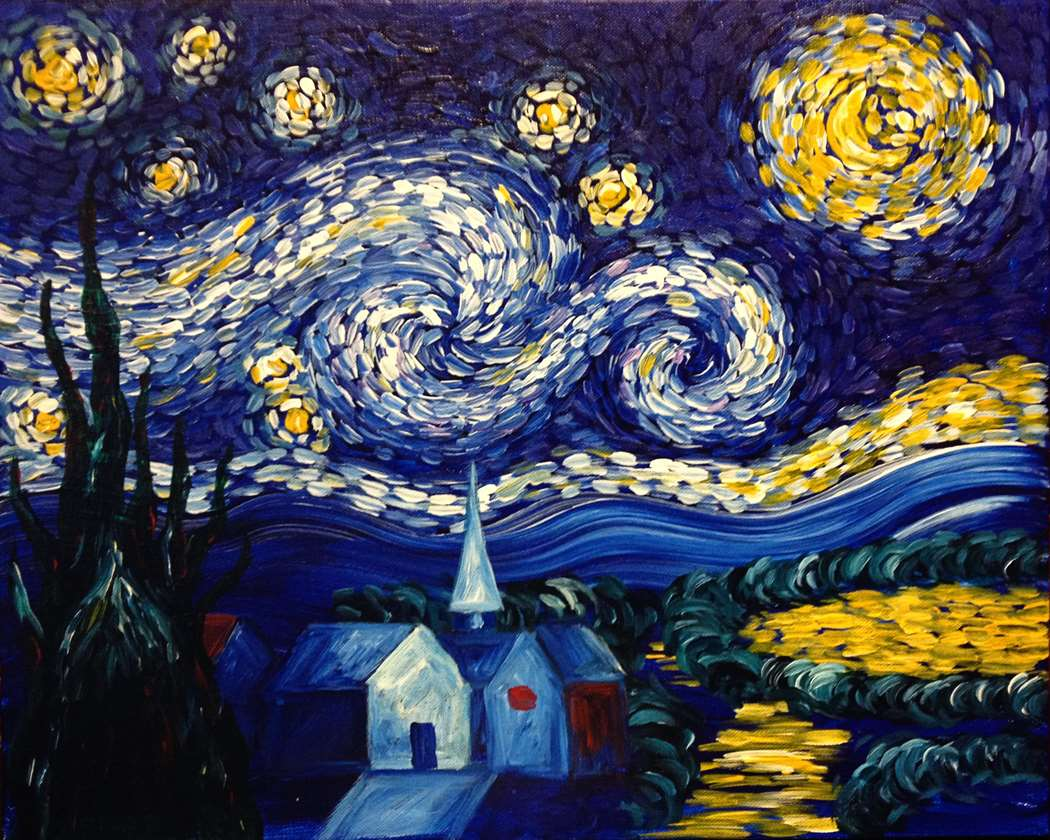 Van Gogh's Starry Night - In Studio Event - Limited Seating Available