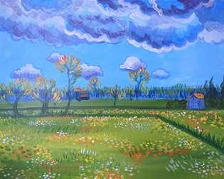 Van Gogh's Stormy Sky
