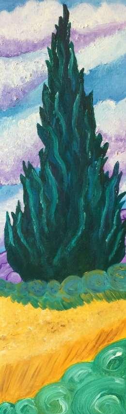 Van Gogh's Wheatfield with Cypress
