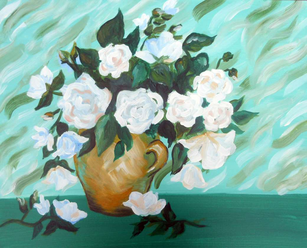Van Goghs White Roses