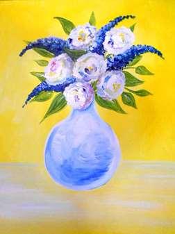 Vase of Garden Roses