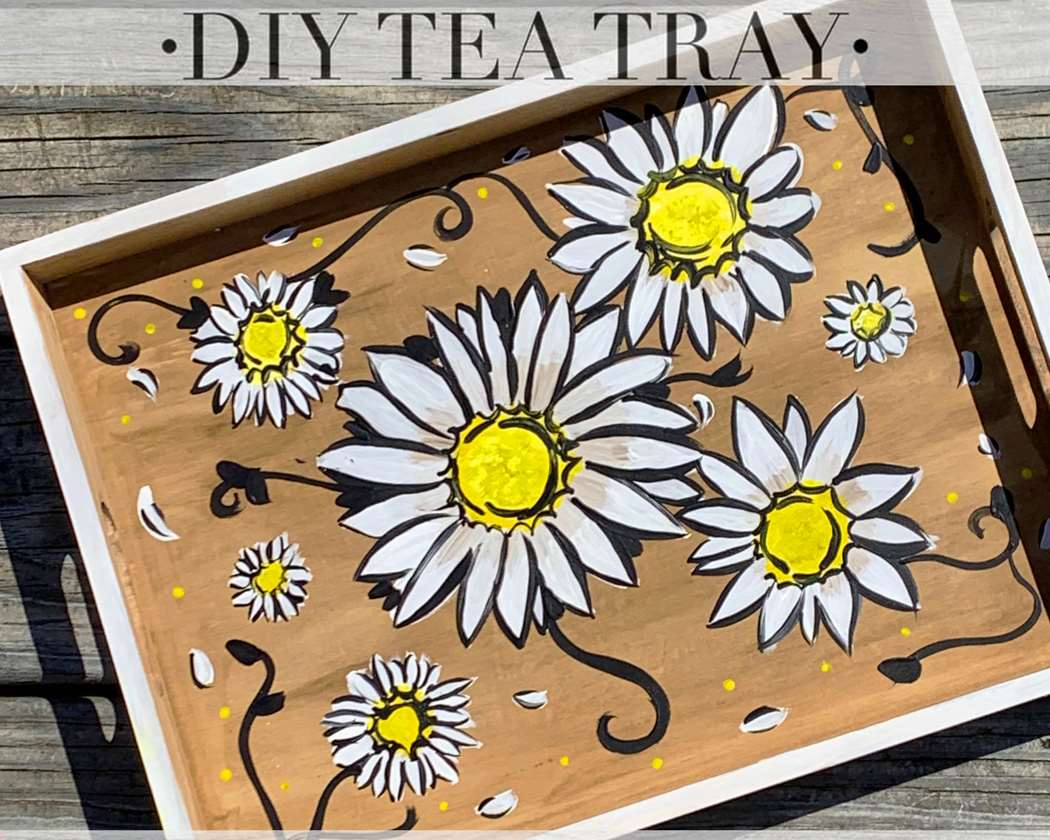 LET'S PAINT A TEA TRAY - TAKE HOME KIT
