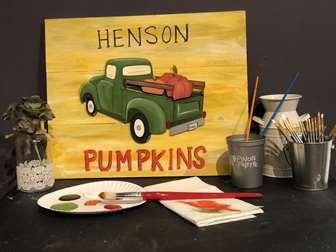 Vintage Harvest Family Sign