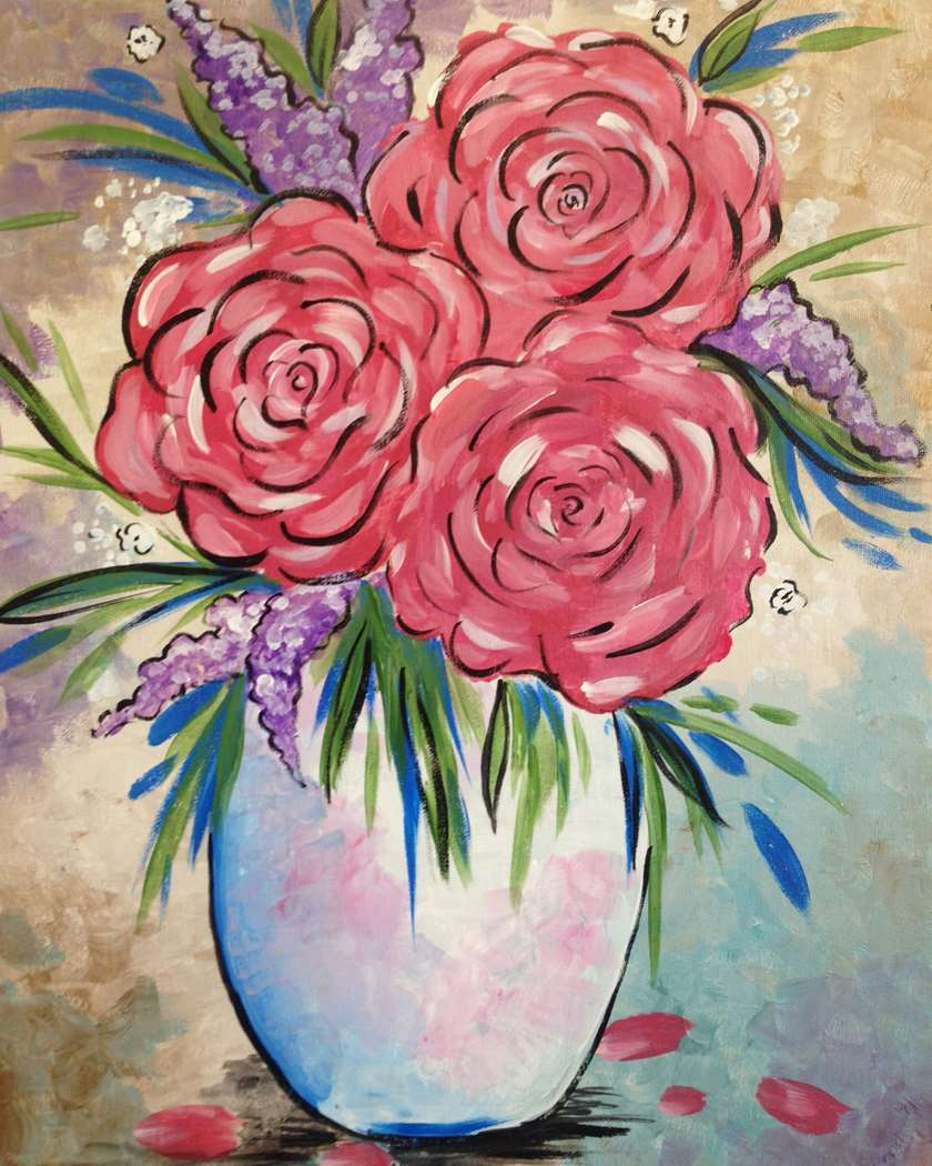 Painting parties classes in tustin paint sip events for Painting with a twist lexington