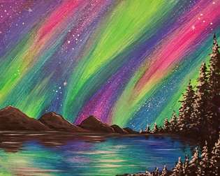 Vivid Aurora Night