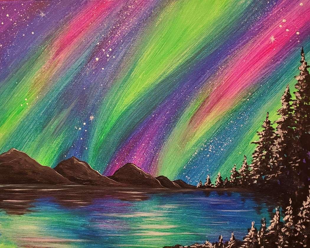 Vivid Aurora Night