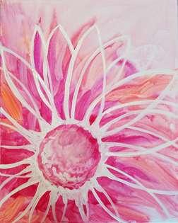 Vivid Watercolor Flower