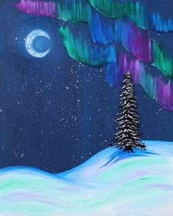 Warm Aurora Night