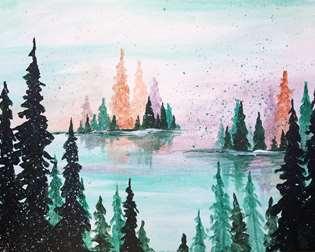 Watercolor Woodlands