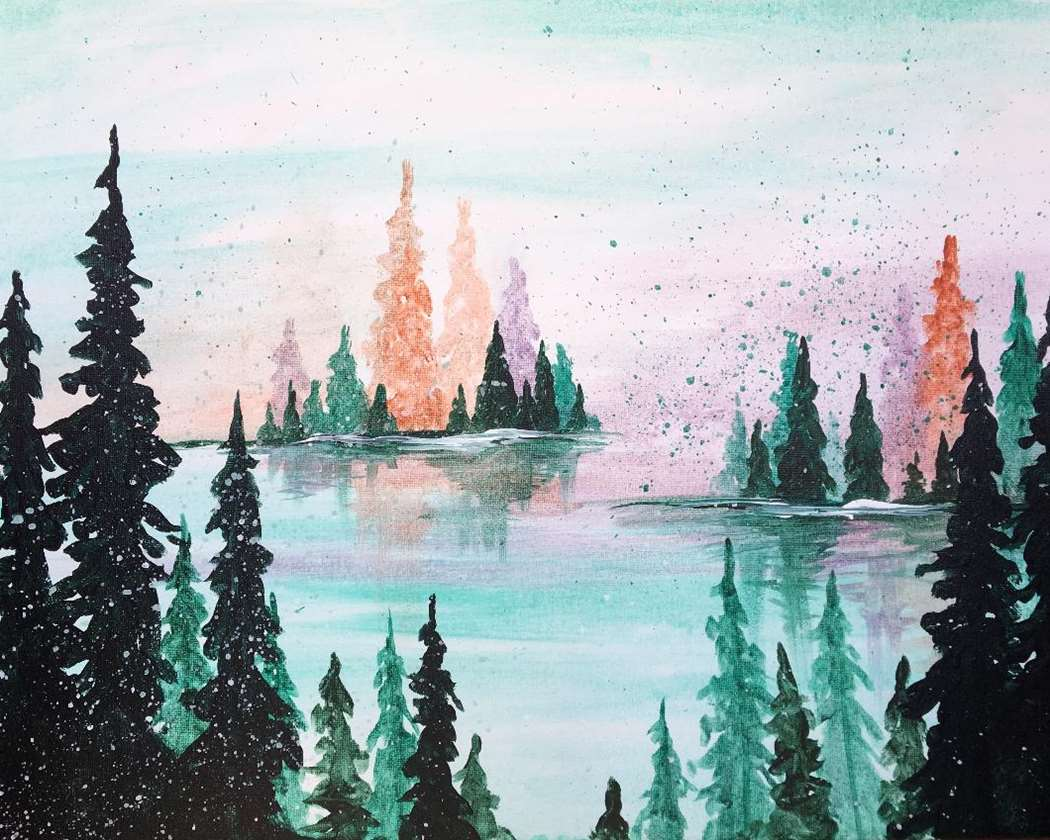 Watercolor Woodlands