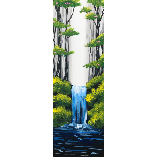 10x30 Canvas!  Waterfall Bliss