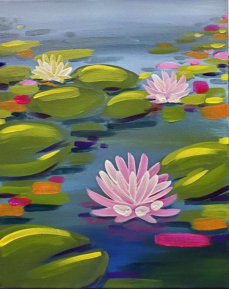 Water Lilies in Mod - also available virtually