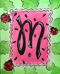 Watermelon Monogram