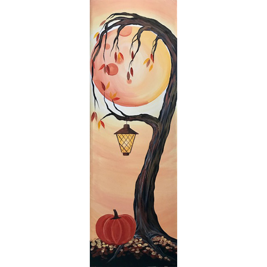 10 x 30 Canvas!  Weeping Autumn Glow