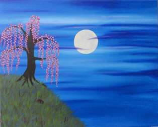 Weeping Peach at Twilight