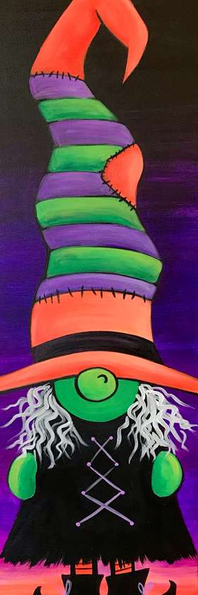 Wicked Gnome - Blacklight Painting!