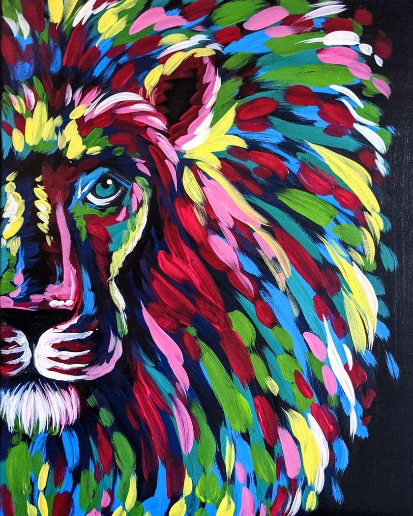 Wild Colorful Lion