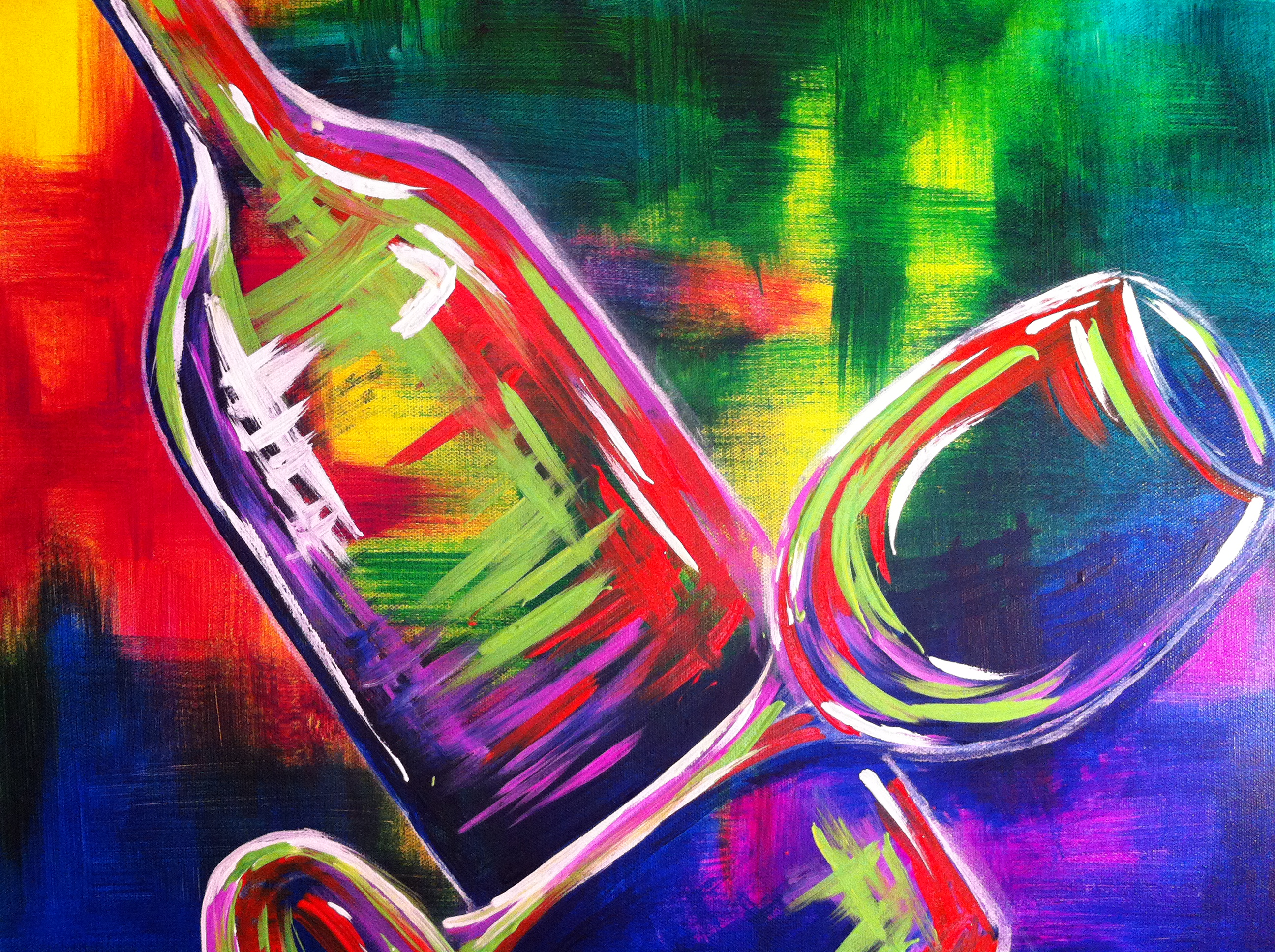 Wild wine night pinot 39 s palette painting for Sip and paint houston
