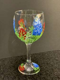 Wildflower Wine Glass