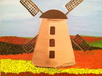 Windmill in Blooms
