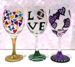 Wine Glass Hearts