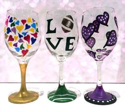 Wine Glass Hearts