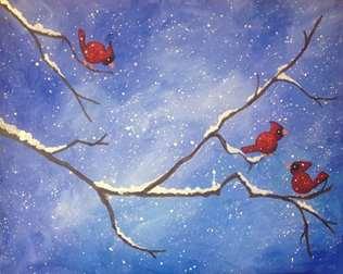 Winter Cardinals