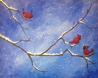 Winter Cardinals