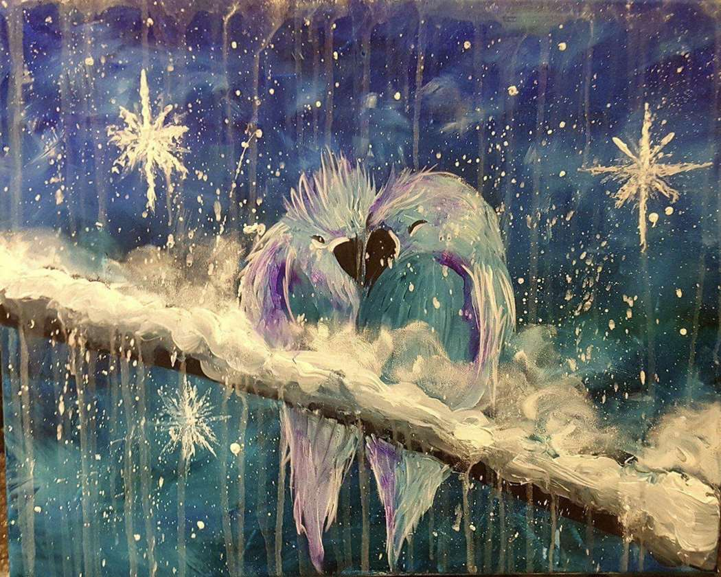 Winter Love Birds
