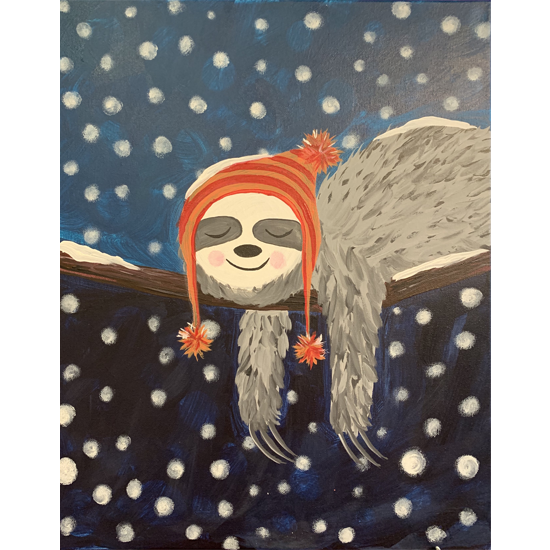 IN-STUDIO EVENT-FAMILY PAINT DAY! WINTER SLOTH