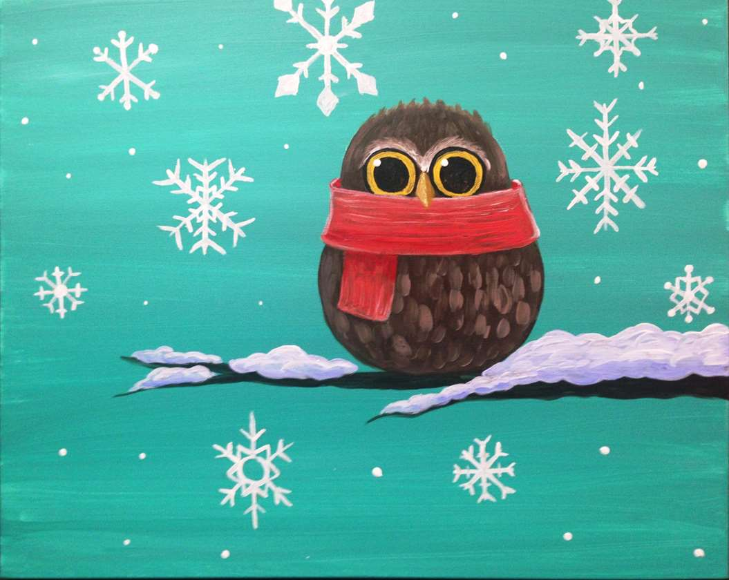 In Studio Event - Winter Snowy Owl