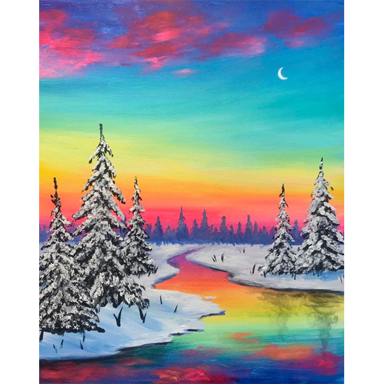IN STUDIO CLASS: WINTER SUNSET - LIMITED SEATING