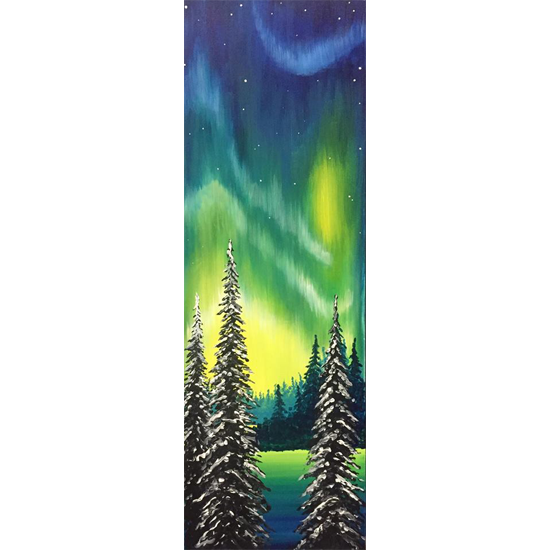 """Painting on 10""""x30"""" Canvas"""