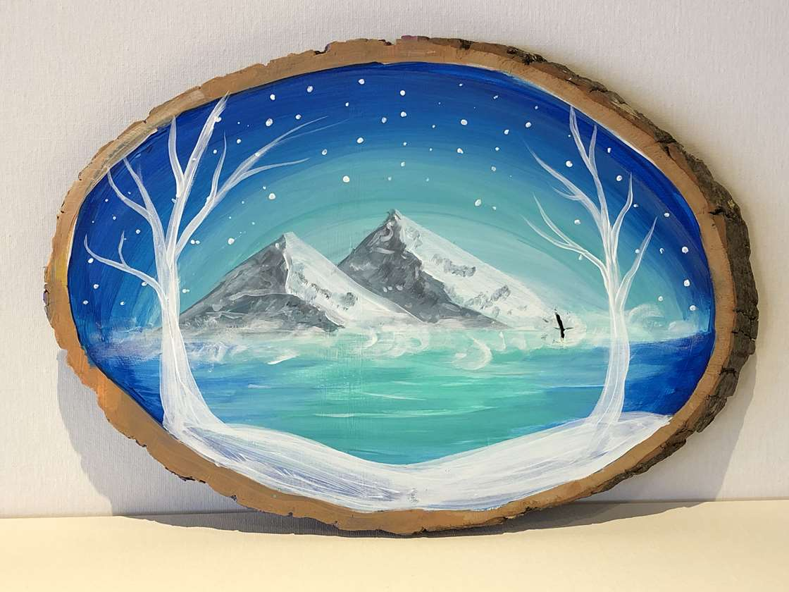 Winter Wonderland on Wood