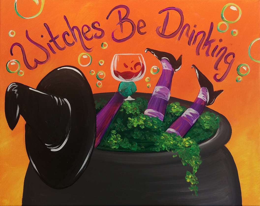 IN STUDIO CLASS: WITCHES BE DRINKING - $3 GLASSES OF HOUSE WINE SPECIAL